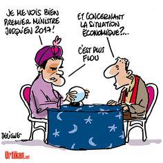 Manuel Valls : «Je ne suis pas un déserteur» - Dessin de Deligne