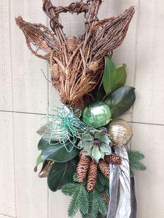 Custom deer created by Sandy Maccioli of Awesome Abode, Raleigh, NC.