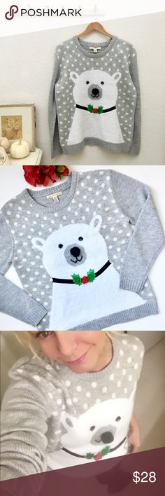 Christmas Sweater, Polar Bear with Puff Ball Nose Specific details to be added momentarily... Love By Design Sweaters Crew & Scoop Necks