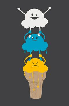 Ice Cream Cheerleading Stunt Art Print by Ava Guerrero Ice Cream Illustration, Cloud Illustration, Kawaii Illustration, Cheer Stunts, Cheer Dance, Cheerleading, Ice Cream Funny, Bow Drawing, Funny Doodles