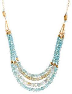 Apatite and Aquamarine Layered Necklace