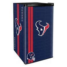 Go old school and show off the history of your favorite football team with this colorful NFL Legacy Counter Height Refrigerator. Features one of the legacy logos of your favorite football team. Perfect for a dorm room, den, garage, basement or bar. Houston Texans Football, Football Team, Mini Fridge With Freezer, Garage Paint, Compact Refrigerator, Fireplace Accessories, Broncos, Patriots, Cowboys