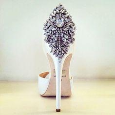 "Badgley Mischka ""Kindra"" Embellished Heels | Spotted on @Mercedes-Benz Fashion Week"