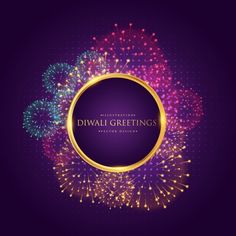 Happy diwali vector background with orange watercolor. Diwali Cards, Diwali Greetings, Diwali Wishes, Diwali Pictures, Happy Diwali Images, Happy Diwali Poster, Purple Background Images, Vector Background, Happy Diwali Animation