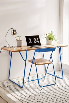 Slide View: 1: Nora Wooden Desk