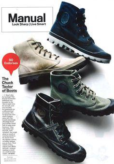 Palladium Boots in GQ | Palladium Boots...I love Palladiums...circa grunge. Indestructible!
