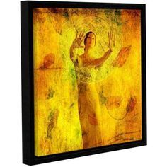 ArtWall Elena Ray Visualize and Manifest Gallery-Wrapped Floater-Framed Canvas, Size: 24 x 24, Green