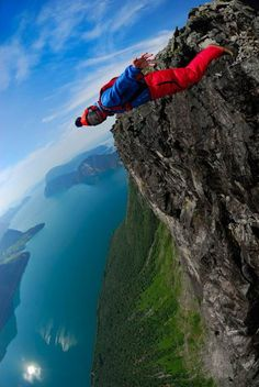 Base Jumping I would looooove to do this!!