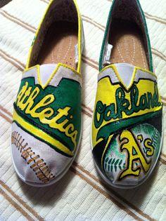 Oakland A's Shoe's  Http://lorenerh.com
