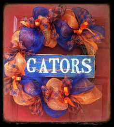 Florida Gators Football Wreath on Etsy, $58.00