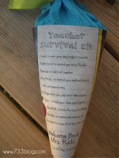 teacher survival kit - for first day of school