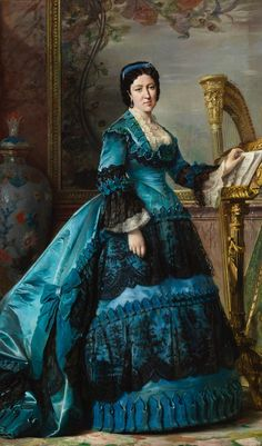 1870 María de los Dolores Collado y Echagüe, duquesa de Bailén by Vicente Palmaroli (Museo Nacional del Prado - Madrid, Spain)