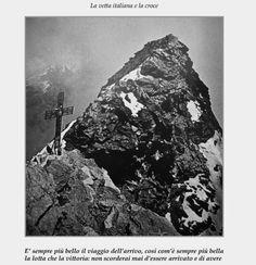 Una pagina del libro-vetta del monte Cervino