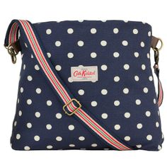 Spot Navy Folded Messenger Bag | Cath Kidston. i would use it instead of a diaper bag.