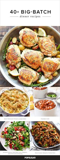 If you're having a dinner party soon, you need these big-batch recipes in your cookbook! They're guaranteed to please the entire crowd. Dinner Party Menu, Dinner Party Recipes, Snacks Für Party, Potluck Recipes, Cooking Recipes, Potluck Dishes, Party Appetizers, Dinner Parties, Slow Cooker Huhn