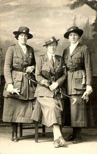 COHSE: Women's Reserve Ambulance - World War One - Miss Haverfield in SWH uniform