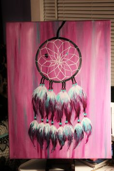 I finally have finished the dream catcher I have been working on for about a month now. Couldn't be more satisfied.