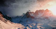 The offical website of The Witcher Wild Hunt. Your number one source for news, latest videos and screenshots from the upcoming RPG developed by CD PROJEKT RED! The Witcher 3, Witcher 3 Art, The Witcher Wild Hunt, World Wallpaper, Wallpaper Pc, Hunting Wallpaper, Action Rpg, Mountain Sunset, Mountain Range