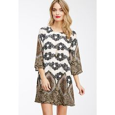 LOVE 21 CONTEMPORARY Floral Paisley Shift Dress $25