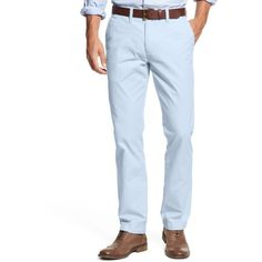 Tommy Hilfiger Men's Custom Fit Chino Pants ($50) ❤ liked on Polyvore featuring men's fashion, men's clothing, men's pants, men's casual pants, placid blue, mens pants, mens blue chino pants, tommy hilfiger mens pants, mens chino pants and mens chinos pants