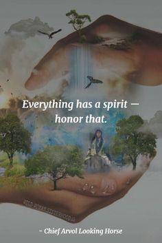 Everything has a Spirit - Honor that.. - Chief Arvol Looking Horse. PhotoArt: Shikoba. WILD WOMAN SISTERHOODॐ    ancient wisdom     native american quotes    Gaia   