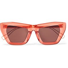 Rejina Pyo + PROJEKT PRODUKT cat-eye acetate sunglasses (1.000 RON) ❤ liked on Polyvore featuring accessories, eyewear, sunglasses, glasses, rejina pyo, red, acetate glasses, cat eye sunnies, translucent glasses and uv protection glasses