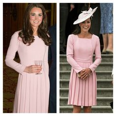 Kate wore this dress twice in the same month, but with the addition of this darling hat!