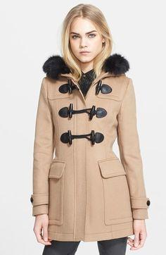 Fox Fur Trim Down Filled Duffle Coat | Coats, Shops and Olives