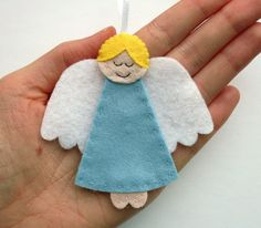 DIY Felt Angel Ornaments PDF Sewing Pattern & by lupin on Etsy