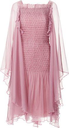 Love this: Plum Silk Chiffon Handsmocked Dress with Swarovski Crystals @Lyst