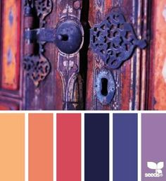 Good color scheme for a bohemian style room :)