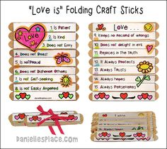 Love Is . . . Folding Craft Stick Craft from www.daniellesplace.com