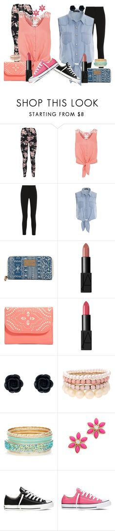 """""""girly vs tomboy (twinz)"""" by hey-there-its-kylah ❤ liked on Polyvore featuring Boohoo, Monsoon, Topshop Unique, Vans, NARS Cosmetics, Vera Bradley, Lipsy, Kate Spade, Converse and girly"""