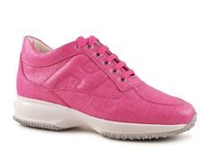 Hogan Interactive sneakers for women in pink fabric - Italian Boutique €186