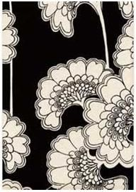 Florence Broadhurst's 'Japanese Floral' in black and white.
