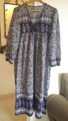Retrouvez cet article dans ma boutique Etsy https://www.etsy.com/fr/listing/537375707/robe-voile-de-coton-indien-indigo-a