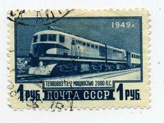 """СССР 1949 год """"Тепловоз ТЭ-2"""""""
