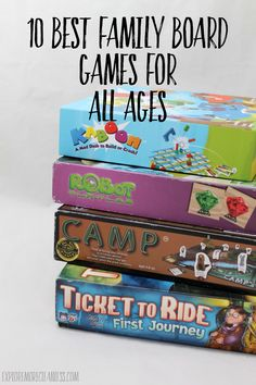 10 Best Family Board Games for All Ages - checkout this curated list of games that are fun for everyone to play, including the adults! Skip Candyland and try one of these fun games that little and big kids will want to play. Explore More Clean Less Activity Games For Kids, Games For Fun, Board Games For Kids, Jokes For Kids, Games To Play, Playing Games, Best Family Board Games, Family Games, Candyland Board Game