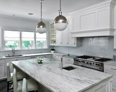 Kitchen at a Pelham Shingle Style for a Modern Family | Fivecat Studio Architecture and Construction | Architects serving Westchester County, NY