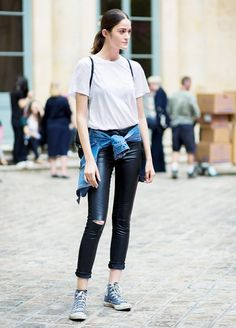 The 5 Best White T-Shirts To Wear With Everything via @WhoWhatWear