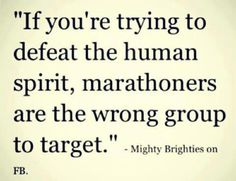 Runners.. Wrong group to target!