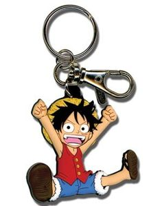 One Piece Keychain: Luffy SD