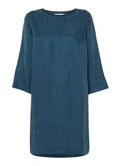 Sissy-Boy Jasmin jurk van cupro met ribgebreide halslijn • de Bijenkorf