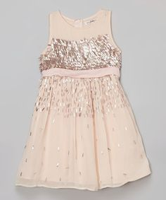 Look what I found on #zulily! Tickle Me Pink Sequin Dress - Girls by French Connection #zulilyfinds