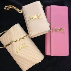Clutch- nude or light pink YSL small clutch