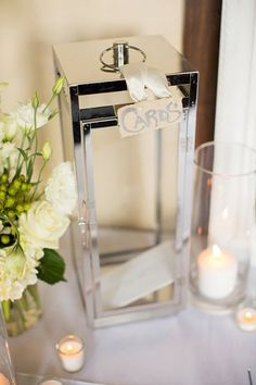 Glass Candle Holder for cards - or a large lantern? What could we use again?