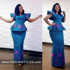 Classy picture collection of Beautiful Ankara Skirt And Blouse Styles These are the most beautiful ankara skirt and blouse trending at the moment. If you must rock anything ankara skirt and blouse styles and design. African Fashion Ankara, Latest African Fashion Dresses, African Print Dresses, African Print Fashion, African Dress, African Wear, African Style, Ghana Fashion, Ankara Skirt And Blouse