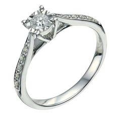 db3f63c5c 9ct white gold 1/4 carat diamond ring - Ernest Jones Buying An Engagement  Ring