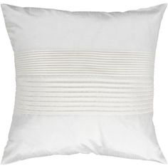 White Pleated 18 X 18 Pillow Surya Rugs Accent Pillows Throw Pillows Bedding