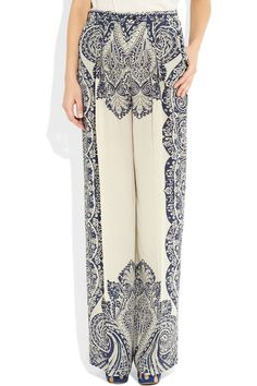 Etro | Printed silk palazzo pants